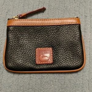 Dooney & Bourke small black wristlet clutch wallet